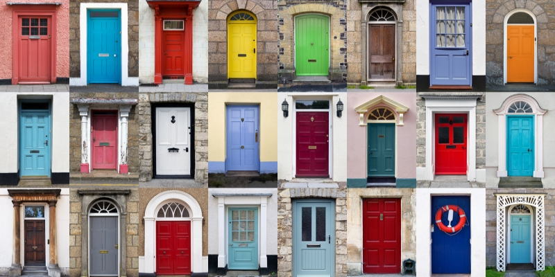 Painting Doors and Freshening a Home's Exterior Create Curb Appeal
