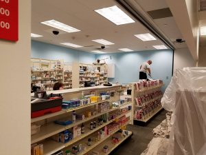 Huskers Painting Commercial Interior: CVS Pharmacy 6636 North 73rd Plaza ,Omaha NE